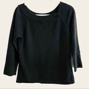 Caslon | 100 % Cashmere Boat Neck Sweater Sz Large